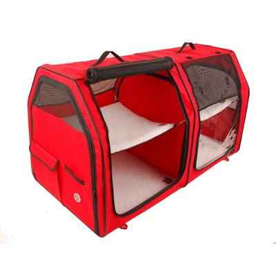 Show House Cat Carrier Color: Red