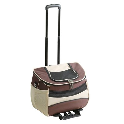 Varnell Backpack Pet Carrier Size: Small (13 H x 11 W x 16 L), Color: Brown