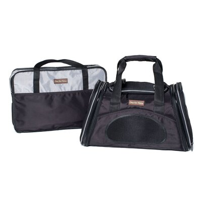 The One Bag Expandable Pet Carrier Color: Black, Size: Large (11.5 H x 11.5 W x 23 L)