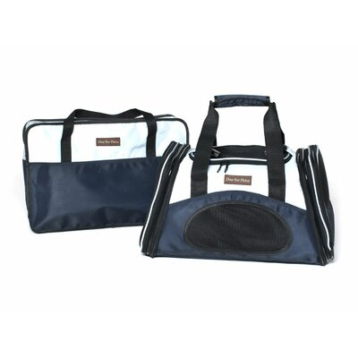 The One Bag Expandable Pet Carrier Size: Large (11.5 H x 11.5 W x 23 L), Color: Navy