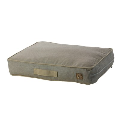 Siesta Spanish Outdoor Classic Dog Pillow Size: Small (27 L x 21 W), Color: Brown