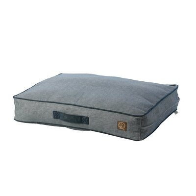 Siesta Spanish Outdoor Classic Dog Pillow Size: Large (45 W x  34 D), Color: Denim