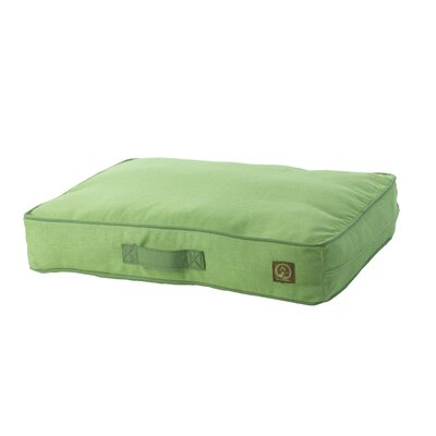 Siesta Spanish Outdoor Classic Dog Pillow Size: Small (27 L x 21 W), Color: Green