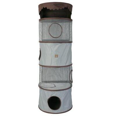 69 Portable Four Story Cat Condo Color: Grey / Brown