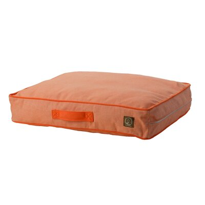 Siesta Spanish Outdoor Classic Dog Pillow Size: Small (27 L x 21 W), Color: Orange