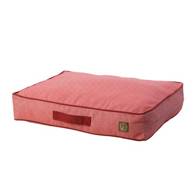 Siesta Spanish Outdoor Classic Dog Pillow Size: Small (27 L x 21 W), Color: Red