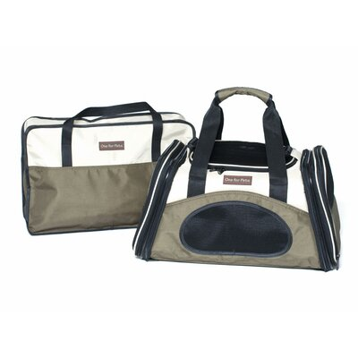 The One Bag Expandable Pet Carrier Size: Small (9 H x 9 W x 21.5 L), Color: Olive