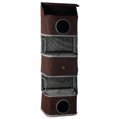 71 Portable Five Story Cat Condo Color: Brown