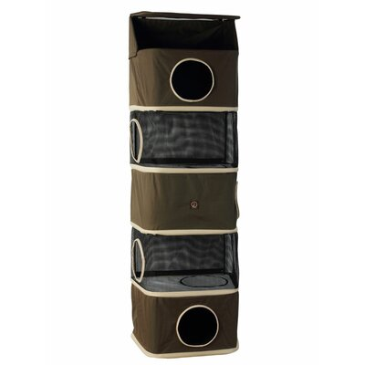 71 Portable Five Story Cat Condo Color: Olive