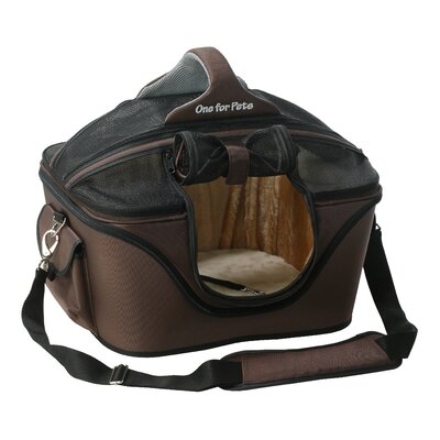 Cozy Pet Carrier Size: Large (16 H x 14 W x 19.5 L), Color: Brown