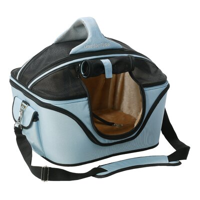Cozy Pet Carrier Size: Large (16 H x 14 W x 19.5 L), Color: Power Blue