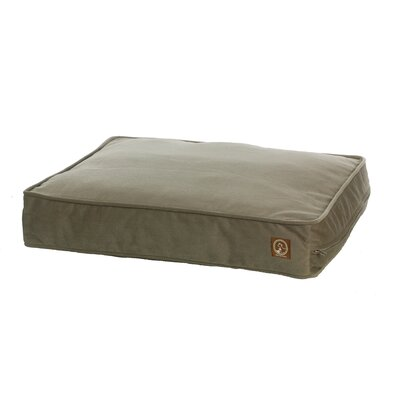Faux Suede Dog Pillow Size: Small (27 L x 21 W), Color: Taupe