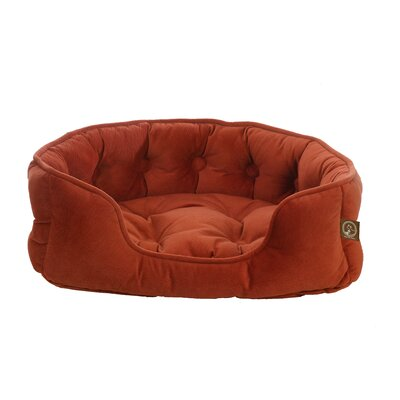 Faux Suede Snuggle Bolster Dog Bed Size: Small (21 L x 18 W), Color: Southwestern