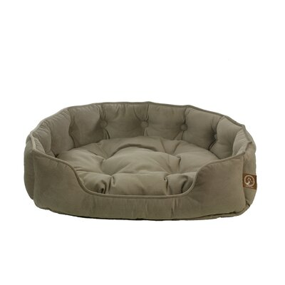 Faux Suede Snuggle Bolster Dog Bed Size: Small (21 L x 18 W), Color: Taupe