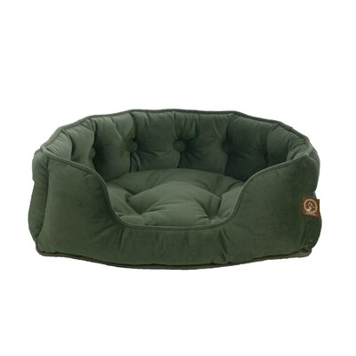 Faux Suede Snuggle Bolster Dog Bed Size: Large (25 L x 21 W), Color: Vienna Harbor