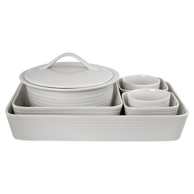 White 7 Piece Bakeware Set 652383672727