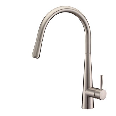 Cascada Single Handle Pull-Down Kitchen Faucet Finish: Brushed Nickel