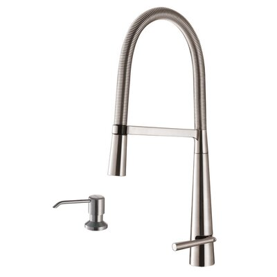 Cascada Single Handle Pull-Down Kitchen Faucet with Soap Dispenser
