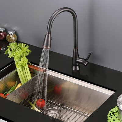 Citadel Pull Out Single Handle Kitchen Faucet