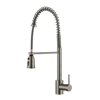Cascada Single Handle Pull-Down Kitchen Faucet Finish: Stainless Steel