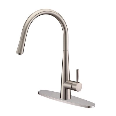 Amato Kitchen Faucet with Deck Plate Finish: Stainless Steel
