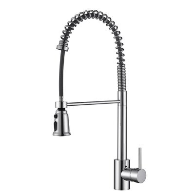 Cascada Single Handle Pull-Down Kitchen Faucet Finish: Polished Chrome