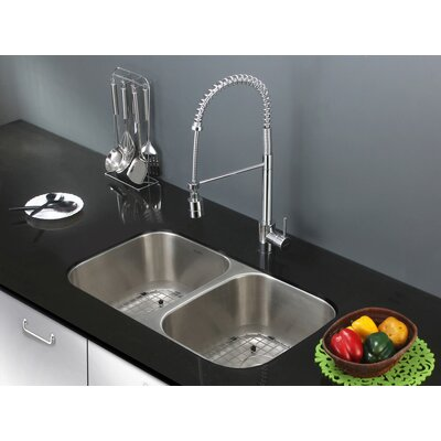 Parni 29 x 8 Double Basin Undermount Kitchen Sink