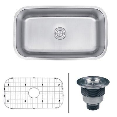 Parmi 31.5 x 18.25 Undermount Single Bowl Kitchen Sink