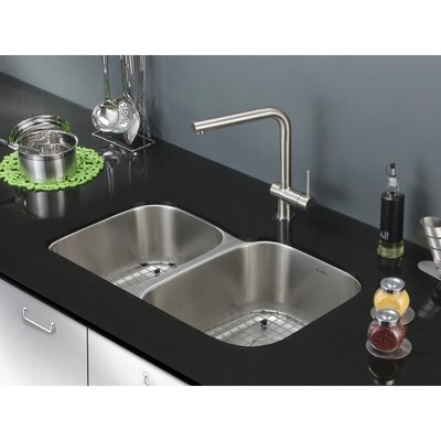 Parmi 32 x 21 Undermount Double Bowl Kitchen Sink