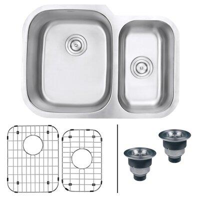 Parmi 29.5 x 21 Undermount Double Bowl Kitchen Sink