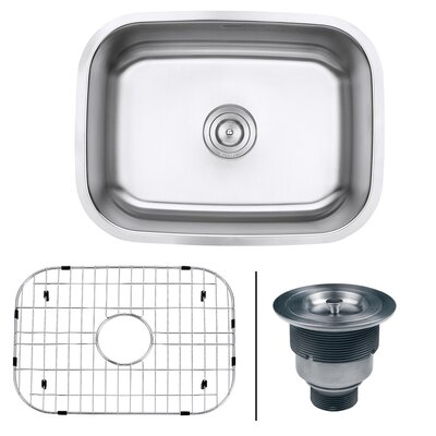 Parmi 23.38 x 17.25 Undermount 16 Gauge Single Bowl Kitchen Sink