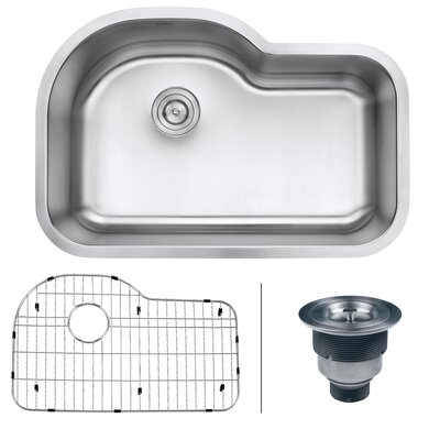 Parmi 31.5 x 21.13 Undermount 16 Gauge Single Bowl Kitchen Sink