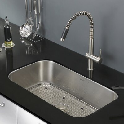 Parmi 30 x 18.16 Undermount 16 Gauge Single Bowl Kitchen Sink