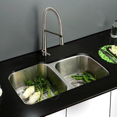 Parmi 32 x 19 Undermount Double Bowl Kitchen Sink