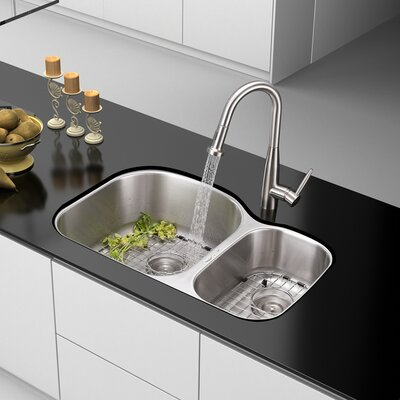 Varna 31.5 x 20.75 Undermount Double Bowl Kitchen Sink