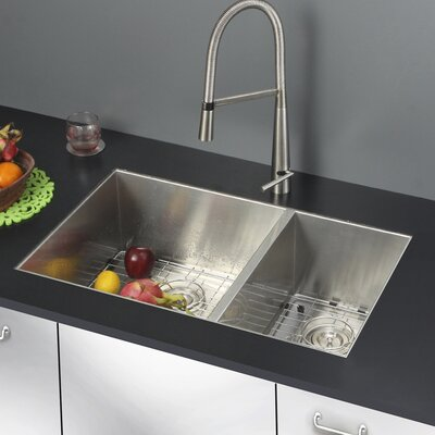 Nesta 29 x 19 Undermount Double Bowl Kitchen Sink