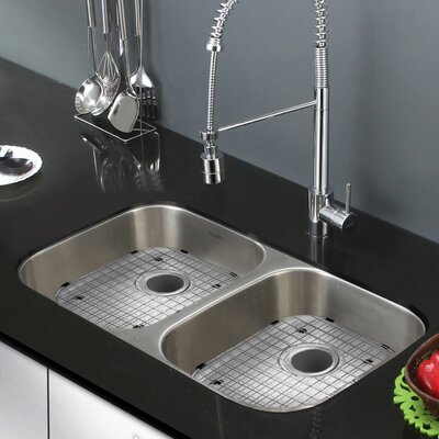 Parmi 32.25 x 18.5 Double Bowl Kitchen Sink