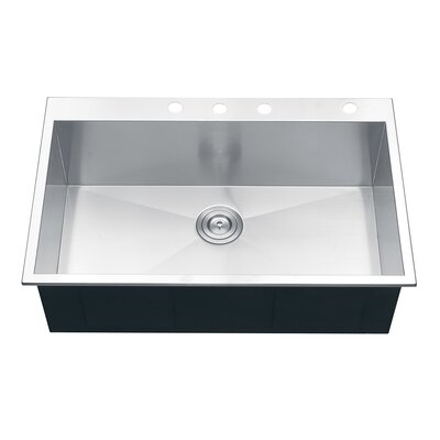 Tirana 33 x 22 Overmount Kitchen Sink