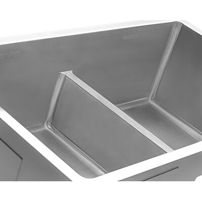 Gravena Low-Divide 10 x 32 Double Basin Undermount Kitchen Sink