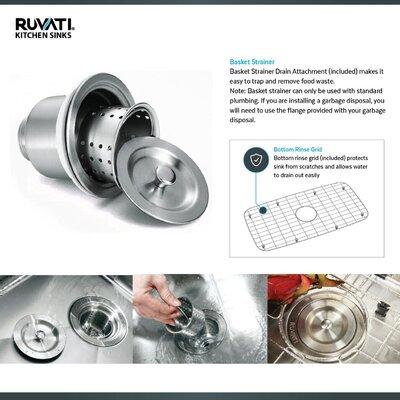Roma Workstation 23 x 10 Undermount Kitchen Sink