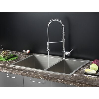 33 x 22 Drop-in Kitchen Sink with Faucet