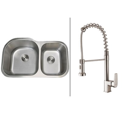 34 x 18.75 Kitchen Sink with Faucet