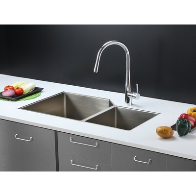 Gravena 33 x 20 Undermount Double Bowl Kitchen Sink