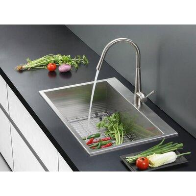 Tirana 25 x 22 Overmount 16 Gauge Single Bowl Kitchen Sink