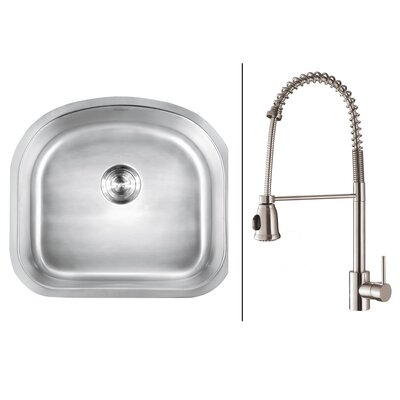 23.25 x 21 Kitchen Sink with Faucet