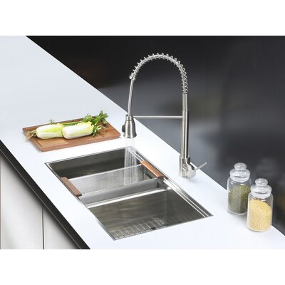 Roma 33 x 19 Undermount Double Bowl Kitchen Sink