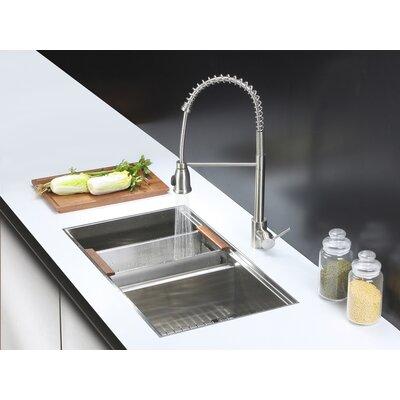 Roma 33 x 19 Undermount Double Bowl Kitchen Sink