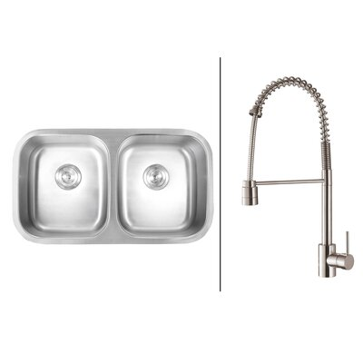 33.25 x 18.5 Kitchen Sink with Faucet