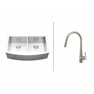 36 x 21 Kitchen Sink with Faucet