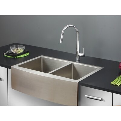Verona 33 x 22 Apron Front Double Bowl Kitchen Sink